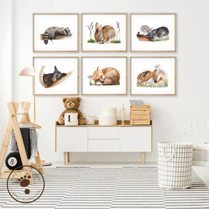 Woodland Animal Nursery Print Set