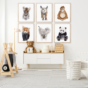 Baby Animal Nursery Art Prints