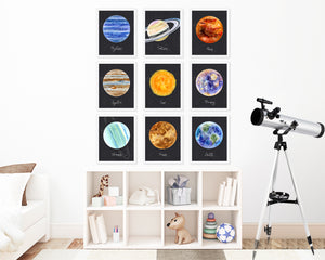 Planet Wall Art Set