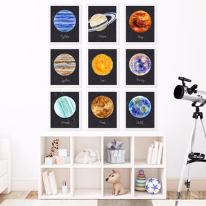 Planet Wall Art Print Set