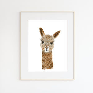 Alpaca Watercolor Print
