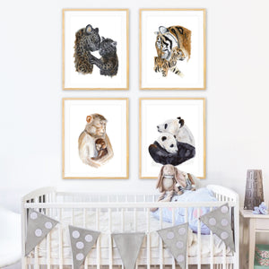 Asian Animal Nursery Print Set