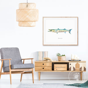 Barracuda Fishing Decor