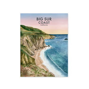 Big Sur Watercolor Artwork