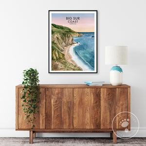 Big Sur Travel Poster