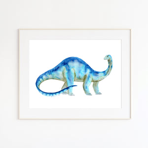 Brontosaurus Watercolor
