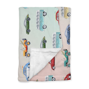 Retro Vintage California Car Minky Blanket