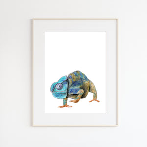 Lizard Watercolor Art