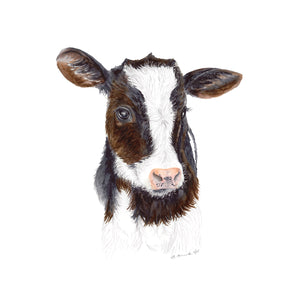 Baby Cow Watercolor