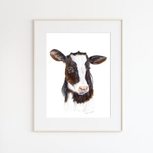 Baby Cow Portrait