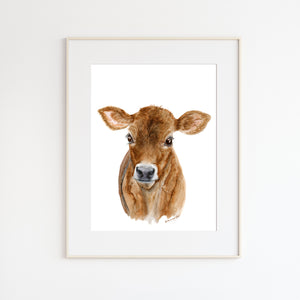 Brown Cow Nursery Print