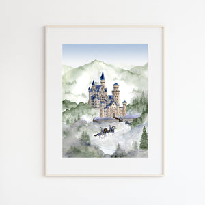Castle Watercolor Print