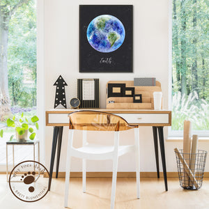 Earth Night Sky Poster