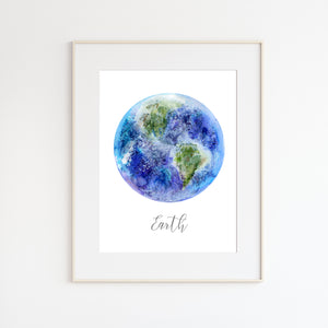 Modern Earth Nursery Print