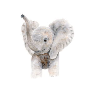 Baby Elephant Watercolor Art