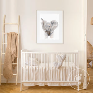Trumpeting Elephant Nursery Decor