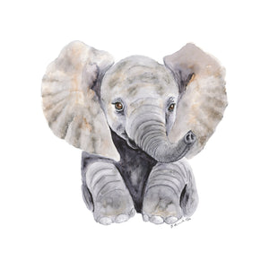 Sitting Baby Elephant Portrait