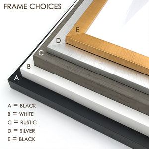 Frame Color Options for Framed Nurser Decor