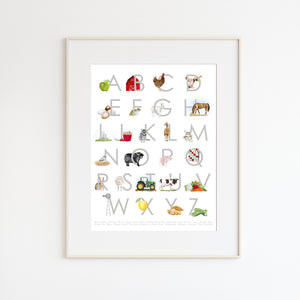 Farm Alphabet Nursery Art