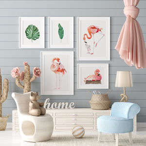 Tropical Flamingo Baby Room Decor