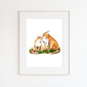 Fox Family Nursery Art