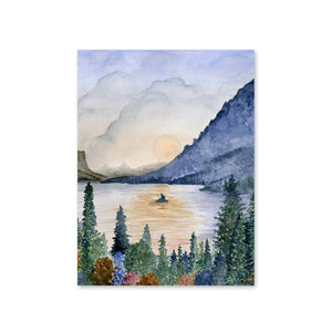 St. Mary's Lake - Glacier - Painting