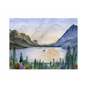 Glacier National Park Watercolor
