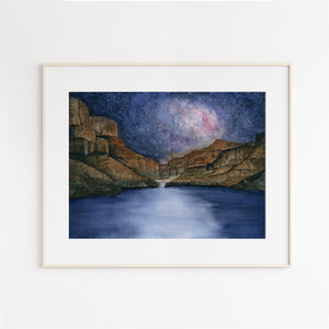 Grand Canyon Colorado River Milky way Landscape