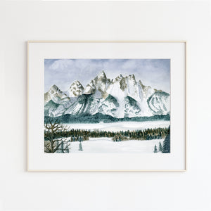 Grand Teton Landscape Painting