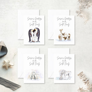 Winter Animal Family Holiday Cards