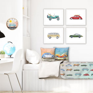 Surf's Up! Retro Car Kids Bedroom Set