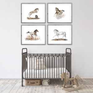 Horse Watercolor Nursery Art