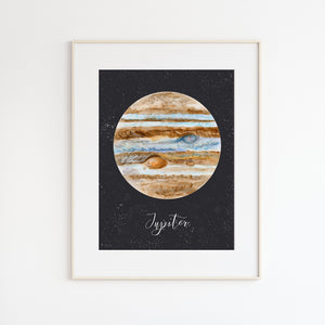 Jupiter Watercolor Print