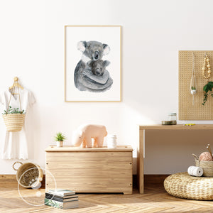 Mother and Baby Koala Nursery Decor