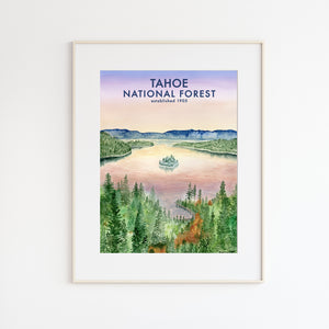 Lake Tahoe Forest Poster
