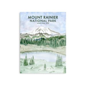 Mt Rainier National Park Poster