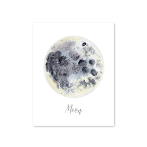 Moon Scandinavian Nursery Art