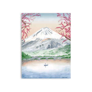 Mount Fuji Watercolor Art