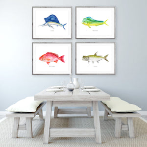 Deep Sea Fishing Print Set