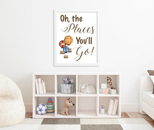 Oh The Places You'll Go Quote Print Lifestyle Shot