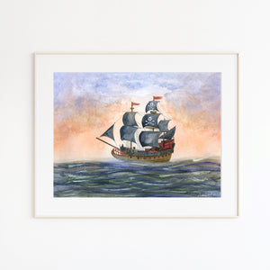 Pirate Ship Nursery Art