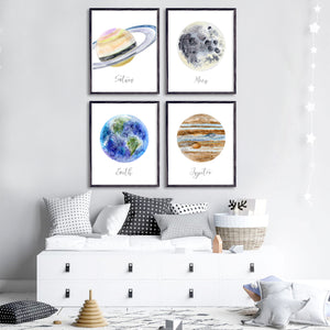 Space Planet Nursery Art