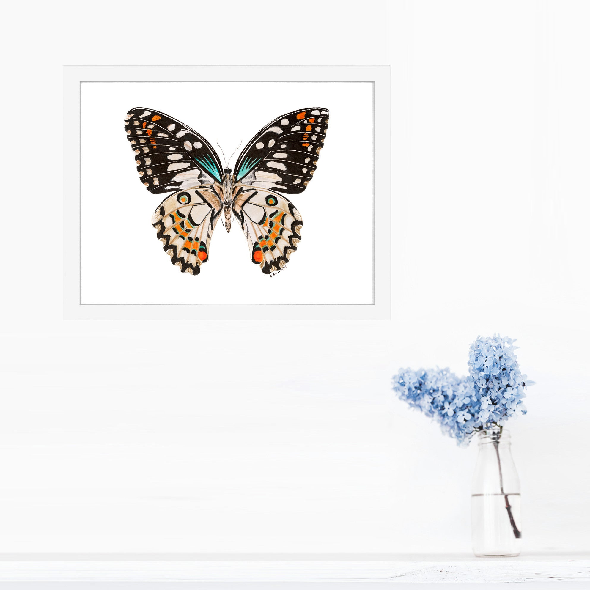 Flittering Butterfly Nursery Art Tiny Toes Design