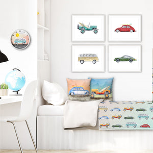 Camper Van and Vintage Car Decor
