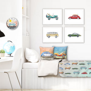 Vintage California Retro Home Decor for Boy's Room