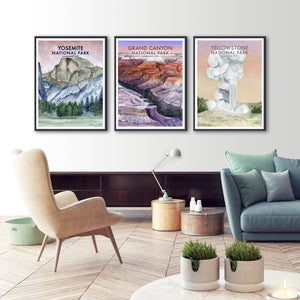 Trio of National Park Posters