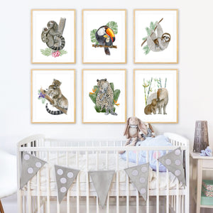 Jungle Animal Nursery Decor