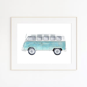 Aqua VW Kombi Van Nursery Decor