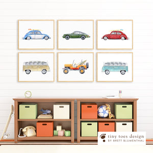 Vintage Car Playroom Prints
