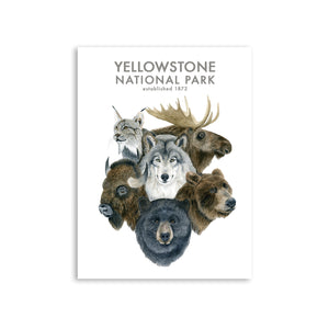 Yellowstone Wildlife Watercolor